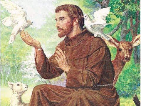 動物と一緒の聖フランシスコ
